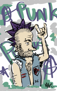 Dessin Galaxy Note Punk